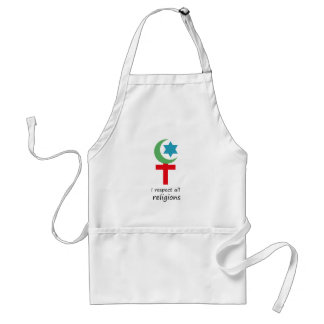 i respect all religions.png apron
