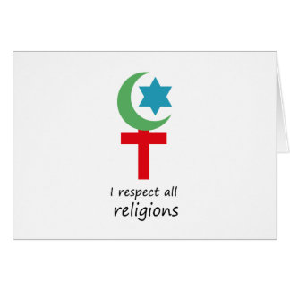 i respect all religions.png card