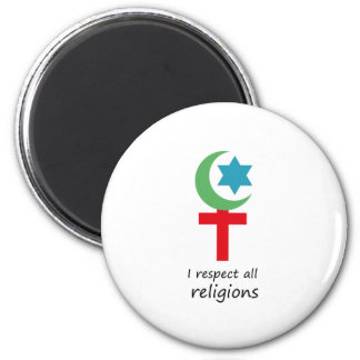 i respect all religions.png magnet