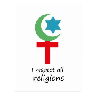 i respect all religions.png postcard