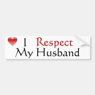 I Respect My Husband Bumper Sticker