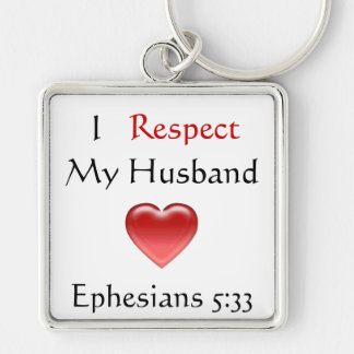 I Respect My Husband Keychain