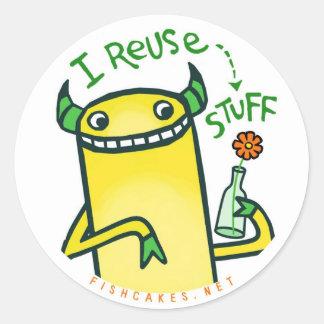 I Reuse Stuff -- stickers