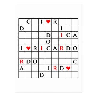 I♥RICARDO POSTCARD