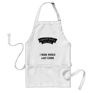I Ride Bikes and Cook Captain Jack's Apron