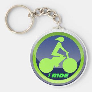 I Ride Cycling Keychain