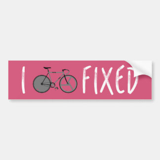 I Ride Fixed - Bike Decal - Customizable Color