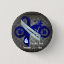 I ride for Team Janyia Pinback Button