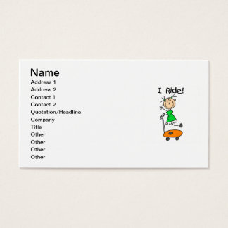 I Ride - Girl on Scooter Business Card
