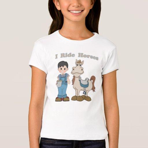 I Ride Horses T-Shirt
