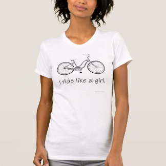 I ride like a girl shirt ladies casual scoop