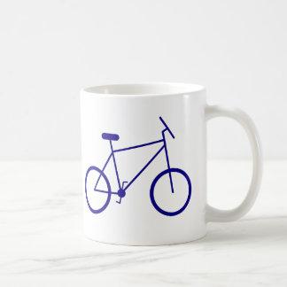 I ride my bike to work. (Blue) Coffee Mug