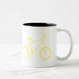 I ride my bike to work mug