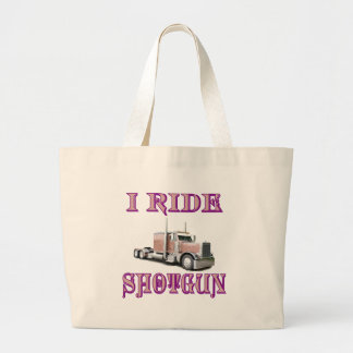 I Ride Shotgun Jumbo Tote Bag
