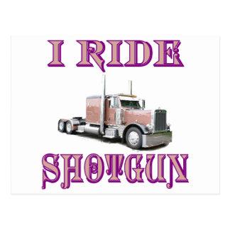 I Ride Shotgun Postcard