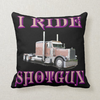 I Ride Shotgun Throw Pillow