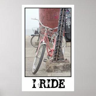 I Ride Vintage Bicycle Print