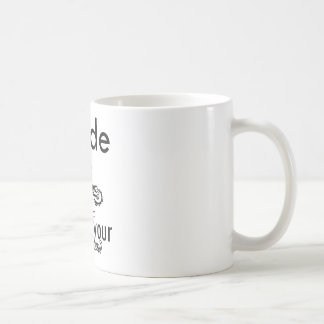 I ride what's your super power classic white coffee mug