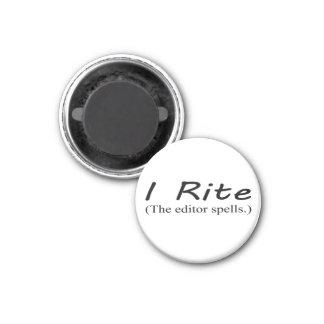 """""""I Rite"""" 1 1/4-inch round magnet"""