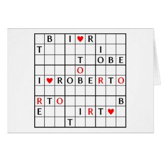 I♥ROBERTO CARD