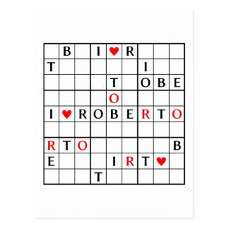 I♥ROBERTO POSTCARD
