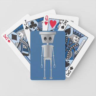 I Robot in Blue Bicycle Playing Cards