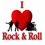 I roca y rollo del corazón escultura fotografica