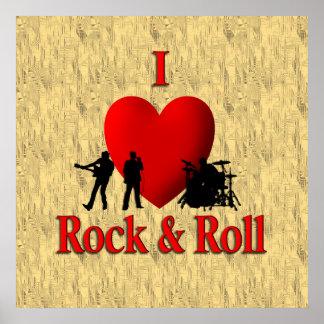 I roca y rollo del corazón poster