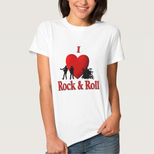 I roca y rollo del corazón remera
