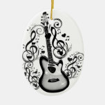 I Rock #5_ Double-Sided Oval Ceramic Christmas Ornament