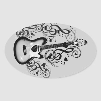 I Rock #5_ Oval Sticker