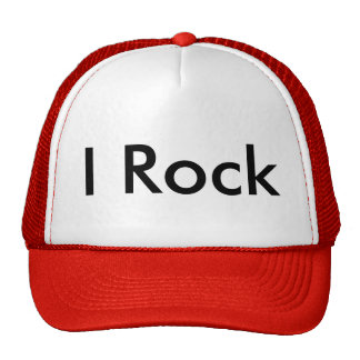 I rock cap trucker hat