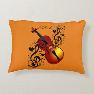I Rock! Love my Violin!_ Decorative Pillow