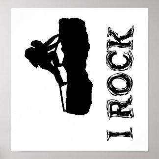 I Rock Poster (black)