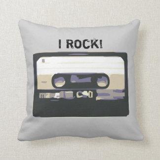 I Rock! Retro Music Cassete Pillow