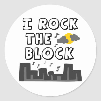I Rock The Block Stickers