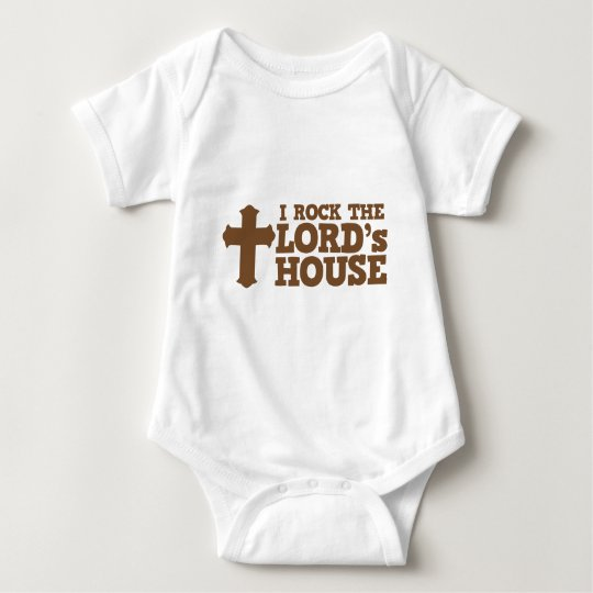 I ROCK the lord's house Baby Bodysuit