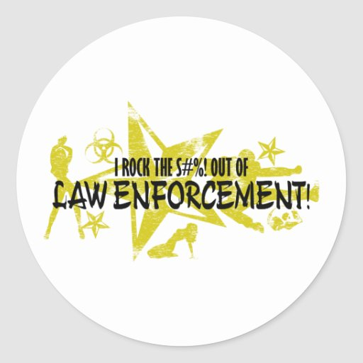 I ROCK THE S#%!- LAW ENFORCEMENT STICKERS