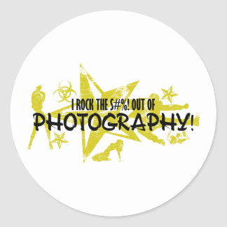 I ROCK THE S#%! - PHOTOGRAPHY CLASSIC ROUND STICKER
