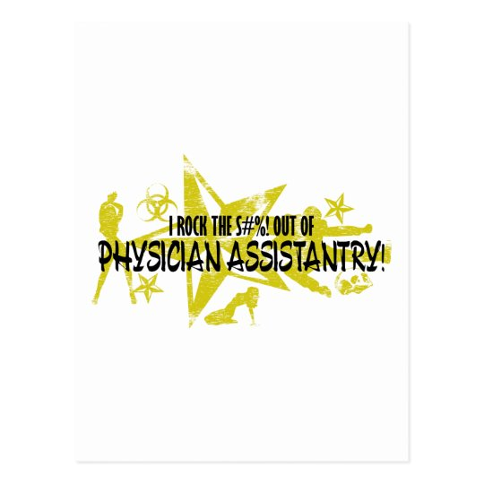 I ROCK THE S#%! - PHYSICIAN ASSISTANTRY POSTCARD