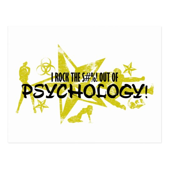I ROCK THE S#%! - PSYCHOLOGY POSTCARD