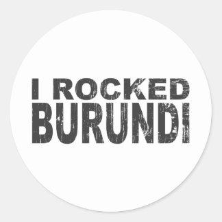 I Rocked Burundi Classic Round Sticker