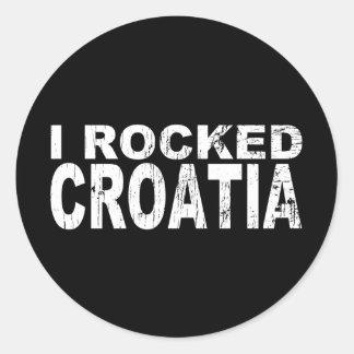 I Rocked Croatia Classic Round Sticker