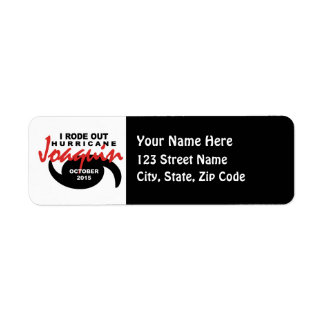 I Rode out Hurricane Joaquin Label