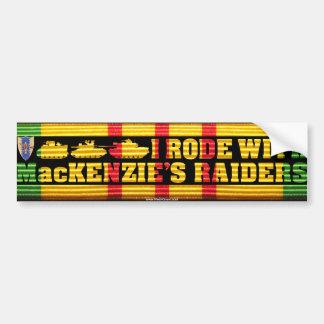 I Rode With MacKenzie's Raiders Bumper Sticker Car Bumper Sticker