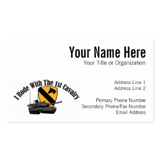 I Rode With The 1st Cav Business Card