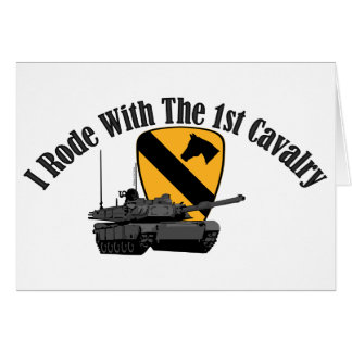 I Rode With The 1st Cav Card