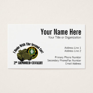 I Rode With The 2nd ACR!  Bradley Business Card