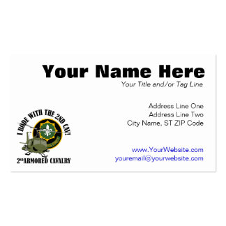 I Rode With The 2nd ACR Double-Sided Standard Business Cards (Pack Of 100)