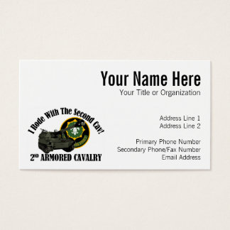 I Rode With The 2nd ACR!  Howitzer Business Card